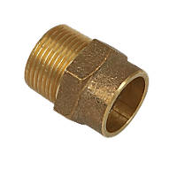 Yorkshire  Brass Solder Ring Adapting Male Coupler 22mm x ¾""