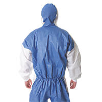 "3M 4535 4535 Type 5/6 Disposable Coverall Blue/White Large / X Large 42-46"" Chest  L"
