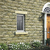 Jeld-Wen Stormsure Left-Hand Opening Double-Glazed Casement White Painted Timber Window 625 x 745mm