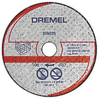 "Dremel DSM520 Masonry/Stone Compact Saw Cutting Wheel 3"" (77mm) x 2 x 11.1mm"