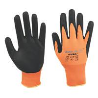 Juba Smart Tip Nitrile Foam-Coated Gloves Orange / Black Large