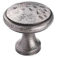 Carlisle Brass Beaten Cupboard Knob Pewter 40mm