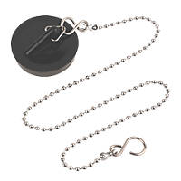 Bath Plug & Chrome Chain 16""