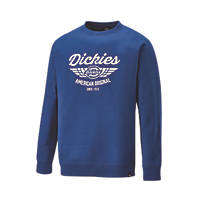 "Dickies Everett Sweatshirt Royal Blue Large 44-46"" Chest"