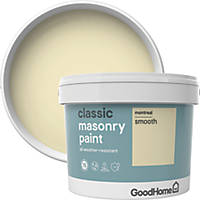 GoodHome Smooth Masonry Paint Montreal 10Ltr