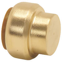 Tectite Classic  Brass Push-Fit Stop End 15mm