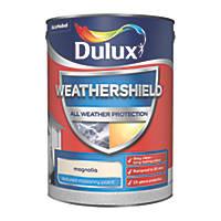 Dulux Weathershield Textured Masonry Paint Magnolia 5Ltr