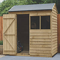 Forest  6' x 4' (Nominal) Reverse Apex Overlap Timber Shed