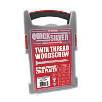 Quicksilver PZ Double-Countersunk Woodscrews Trade Case Grab Pack 1000 Pcs