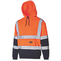 "Dickies SA22095 Hi-Vis 2-Tone Hoodie Orange/Navy Large 46"" Chest"