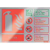 "Firechief  ""Water"" Fire Safety Sign 150 x 100mm"