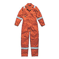 "Dickies WD2279 Zip Front Coverall Orange Large 44-46"" Chest  L"