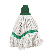 Bentley SF/HR/BS.35/G Pure Yarn Cotton Mop Head Green 5 Pack