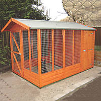 Shire Apex Dog Kennel with Run 7' x 10' (Nominal)