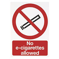 """No E-Cigarettes Allowed"" Sign 210 x 148mm"