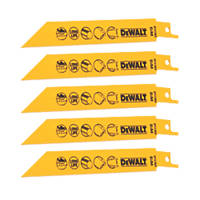 DeWalt DT2384-QZ Reciprocating Saw Blade 152mm 5 Pack