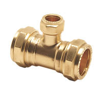Pegler PX50C Brass Compression Reducing Tee 22 x 22 x 15mm