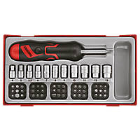 Teng Tools TTMDRT64 Ratchet Angled Bit Driver Set 64 Pieces