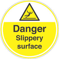"""Slippery Surface"" Anti-Slip Floor Sign 450 x 450mm"