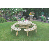 Forest Circular Garden Picnic Table 2070 x 2070 x 720mm