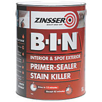 Zinsser B-I-N Shellac-Based Primer Sealer 5Ltr