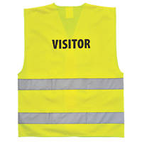 "Portwest  Hi-Vis Visitors Waistcoat Yellow Large / X Large 42-48"" Chest"