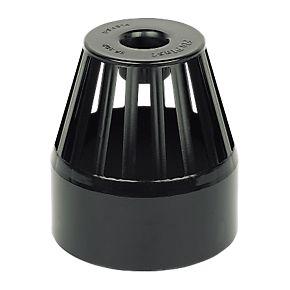 floplast sp302 vent terminal black soil pipe fittings. Black Bedroom Furniture Sets. Home Design Ideas