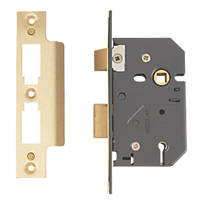 Yale 5 Lever Polished Brass 5-Lever Mortice Sashlock 64mm Case - 45mm Backset
