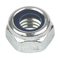 Easyfix BZP Steel Nylon Lock Nuts M5 100 Pack