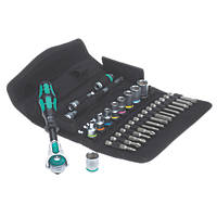 "Wera Zyklop 1/4"" Drive 5-in-1 Ratchet, Socket & Bit Set 28 Pieces"
