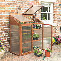 Rowlinson Hardwood Mini Greenhouse 4' x 2'