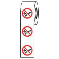 No Smoking Symbol Adhesive Labels 40 x 40mm
