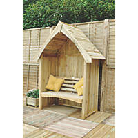 Forest Limoge Arbour 1.72 x 0.9 x 2.3m Brown
