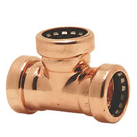 Tectite Sprint  Copper Push-Fit Equal Tees 15mm 10 Pack