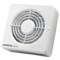 Manrose MG100H 20W Bathroom Extractor Fan with Humidistat & Timer White 240V