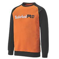 """Timberland Pro Honcho Sweatshirt  Black/Orange  Large 45"""" Chest"""