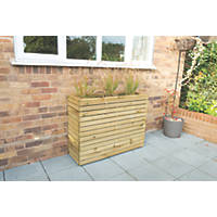 Forest Rectangular Tall Linear Planter Natural Wood 1200 x 400 x 920mm