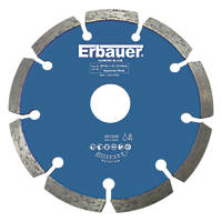 Erbauer  Masonry/Stone Diamond Wall Chasing Blade 125 x 22.23mm 2 Pack