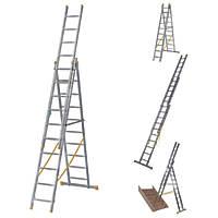 Werner 3-Section 4-Way Aluminium Combination Ladder  6.86m
