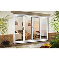 Euramax uPVC Fold & Slide Double-Glazed Patio Door Right-Hand 2990 x 2090mm