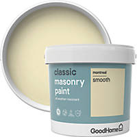 GoodHome Smooth Masonry Paint Montreal 5Ltr