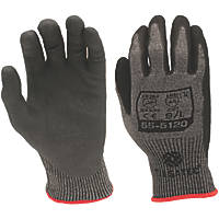 Tilsatec 55-5120 Cut 5/E Foam Nitrile Gloves Grey / Black Large