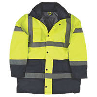 "Hi-Vis 2-Tone Padded Coat Yellow / Black XX Large 61"" Chest"