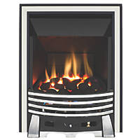 Focal Point Elysee Chrome Rotary Control Inset Gas High Efficiency Fire