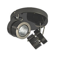 Inlight  2-Light Circular Spotlight Black Chrome 240V