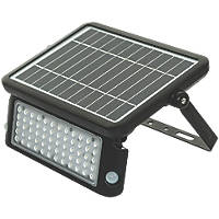 Luceco LEXSF11B40 LED High Power Solar Floodlight With PIR & Photocell Sensor Black