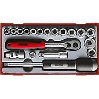 """Teng Tools 3/8"""" Socket Set 19 Pieces"""