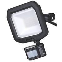 Luceco Castra Smart Outdoor LED Floodlight With PIR Sensor Black 20W 2000lm