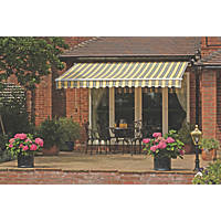 Greenhurst Windsor Extendable Patio Awning Orange / Grey 2.5 x 2m
