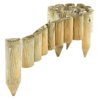Rowlinson Easy Fix Spiked Border Roll Natural Timber 1.8m 4 Pack